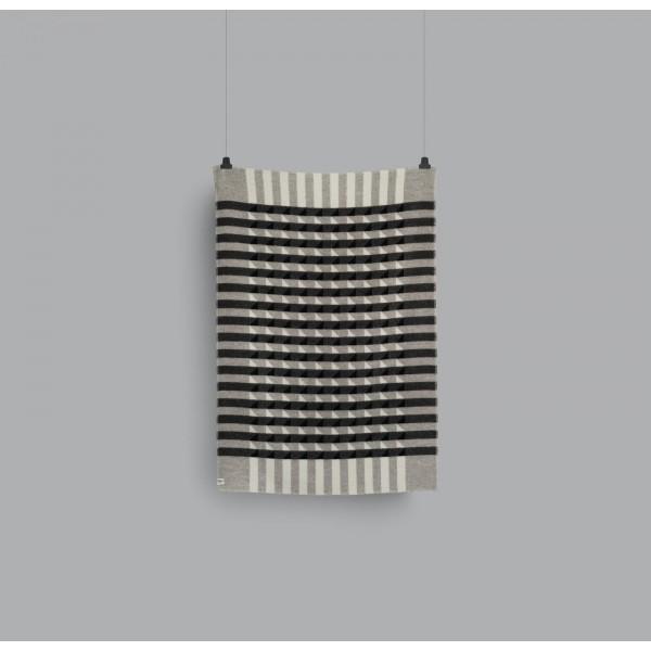 Kvam 5211 - Greyscale Wool Blanket