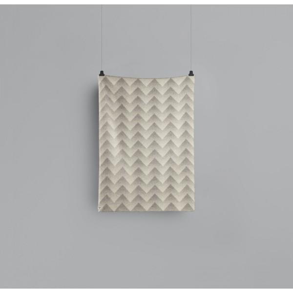 Lynild 1454 - Grey-Natural Wool Blanket