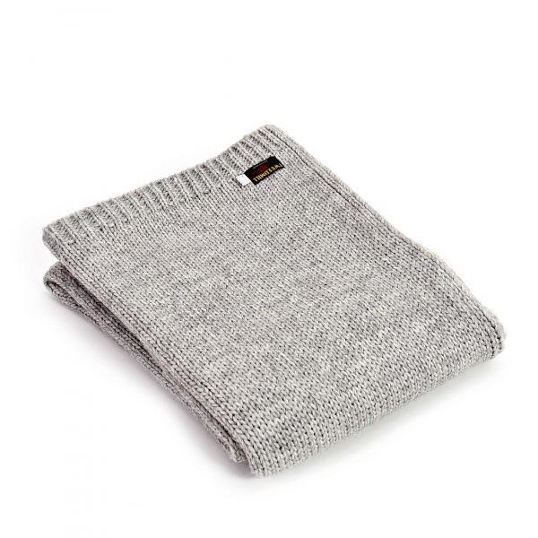 Tweedmill Knitted Alpaca Mix Throw - Grey