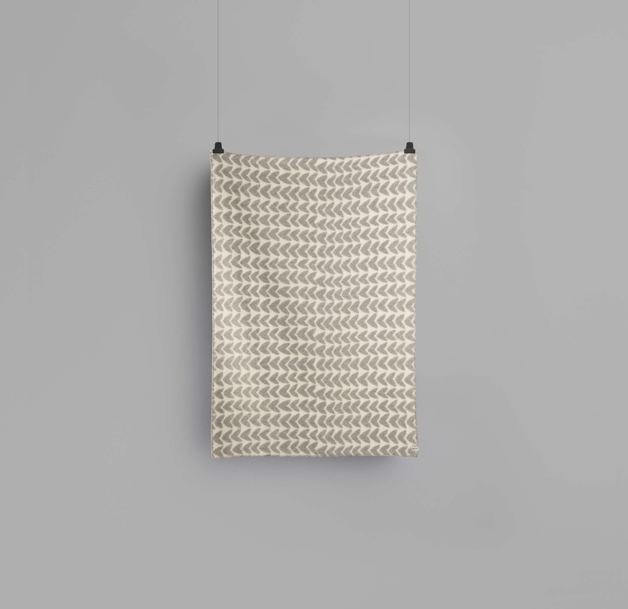 800abb1e Åker Light Grey - Natural Wool Blanket
