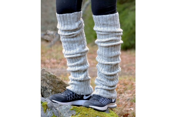 Scandinavian Wool Leg Warmers: 2 Sizes, 6 Colors