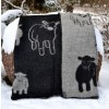 Sheep & Lamb Wool Throw Blanket: 3 Sizes, 2 Colors